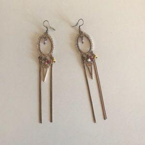 Long bohemian dangly earrings